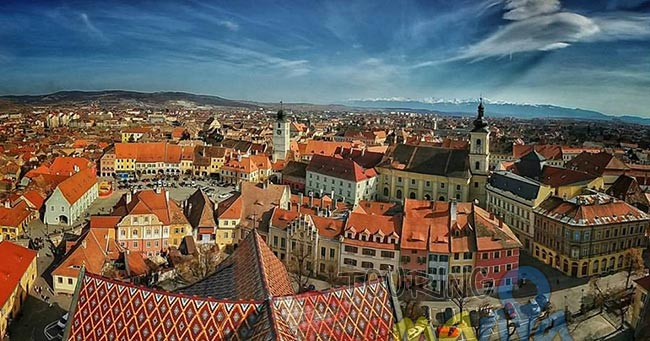 Sibiu Medieval City in Transylvania Romania